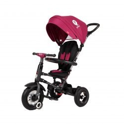 Трехколесный складной велосипед Q Play розовый (трансформер)