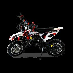 Мини кросс бензиновый MOTAX 50 cc бело-красный (бензиновый, до 50 кг, до 45 км/ч, вариатор, тормоза дисковые механические)